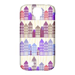 Houses City Pattern Samsung Galaxy S4 Classic Hardshell Case (PC+Silicone)