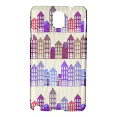 Houses City Pattern Samsung Galaxy Note 3 N9005 Hardshell Case
