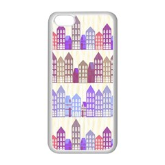 Houses City Pattern Apple iPhone 5C Seamless Case (White)