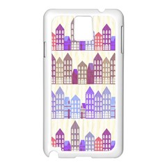 Houses City Pattern Samsung Galaxy Note 3 N9005 Case (white)