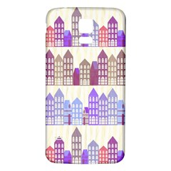 Houses City Pattern Samsung Galaxy S5 Back Case (White)