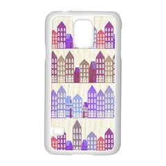 Houses City Pattern Samsung Galaxy S5 Case (White)