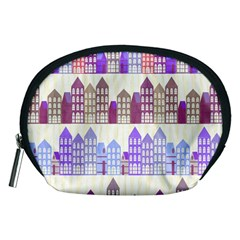 Houses City Pattern Accessory Pouches (Medium)