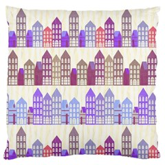 Houses City Pattern Standard Flano Cushion Case (one Side)