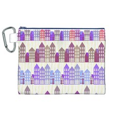 Houses City Pattern Canvas Cosmetic Bag (xl)