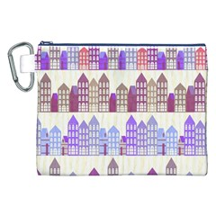 Houses City Pattern Canvas Cosmetic Bag (XXL)