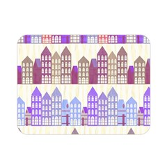 Houses City Pattern Double Sided Flano Blanket (Mini)