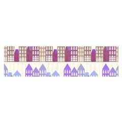Houses City Pattern Satin Scarf (oblong)