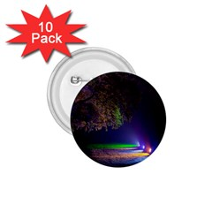 Illuminated Trees At Night 1 75  Buttons (10 Pack)