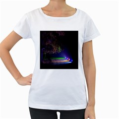 Illuminated Trees At Night Women s Loose Fit T Shirt (white)