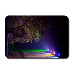 Illuminated Trees At Night Plate Mats