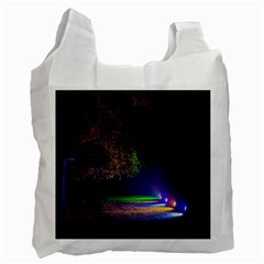 Illuminated Trees At Night Recycle Bag (Two Side)