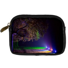 Illuminated Trees At Night Digital Camera Cases