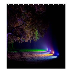 Illuminated Trees At Night Shower Curtain 66  x 72  (Large)