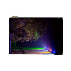 Illuminated Trees At Night Cosmetic Bag (Large)
