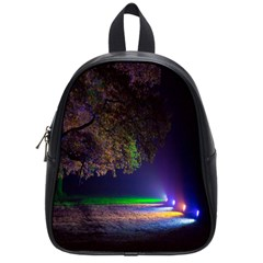 Illuminated Trees At Night School Bags (Small)