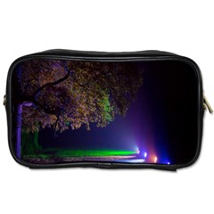 Illuminated Trees At Night Toiletries Bags