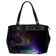 Illuminated Trees At Night Office Handbags (2 Sides)