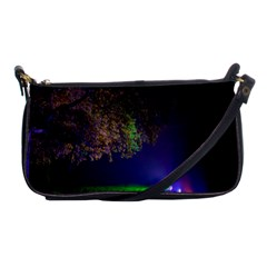 Illuminated Trees At Night Shoulder Clutch Bags