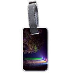 Illuminated Trees At Night Luggage Tags (two Sides)