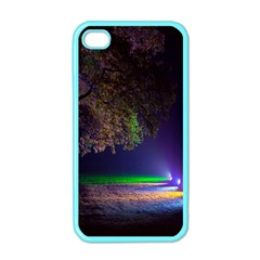 Illuminated Trees At Night Apple iPhone 4 Case (Color)