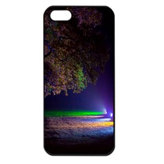 Illuminated Trees At Night Apple iPhone 5 Seamless Case (Black)