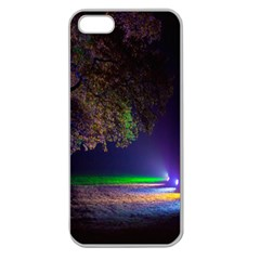 Illuminated Trees At Night Apple Seamless iPhone 5 Case (Clear)