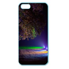 Illuminated Trees At Night Apple Seamless iPhone 5 Case (Color)