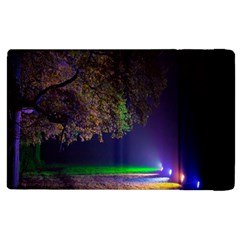 Illuminated Trees At Night Apple Ipad 2 Flip Case