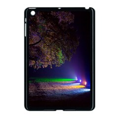 Illuminated Trees At Night Apple iPad Mini Case (Black)
