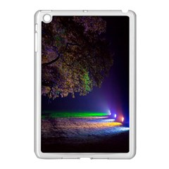 Illuminated Trees At Night Apple iPad Mini Case (White)