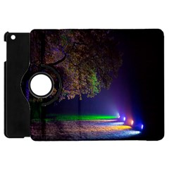 Illuminated Trees At Night Apple iPad Mini Flip 360 Case