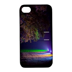 Illuminated Trees At Night Apple iPhone 4/4S Hardshell Case with Stand