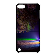 Illuminated Trees At Night Apple Ipod Touch 5 Hardshell Case With Stand