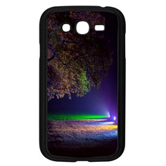 Illuminated Trees At Night Samsung Galaxy Grand Duos I9082 Case (black)