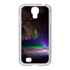 Illuminated Trees At Night Samsung GALAXY S4 I9500/ I9505 Case (White)