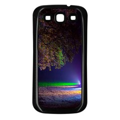 Illuminated Trees At Night Samsung Galaxy S3 Back Case (black)