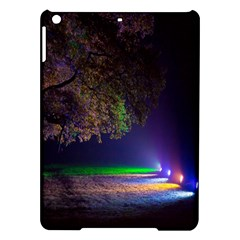 Illuminated Trees At Night iPad Air Hardshell Cases