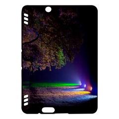 Illuminated Trees At Night Kindle Fire HDX Hardshell Case