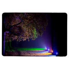 Illuminated Trees At Night iPad Air Flip