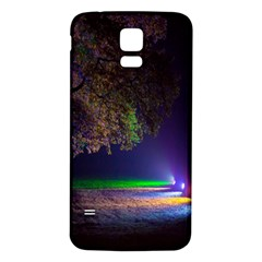 Illuminated Trees At Night Samsung Galaxy S5 Back Case (white)