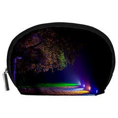 Illuminated Trees At Night Accessory Pouches (Large)