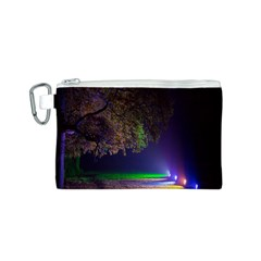 Illuminated Trees At Night Canvas Cosmetic Bag (s)