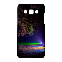 Illuminated Trees At Night Samsung Galaxy A5 Hardshell Case