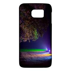 Illuminated Trees At Night Galaxy S6