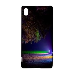 Illuminated Trees At Night Sony Xperia Z3+