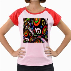 Background Balls Circles Women s Cap Sleeve T-Shirt