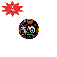 Background Balls Circles 1  Mini Buttons (10 Pack)