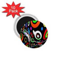 Background Balls Circles 1.75  Magnets (10 pack)