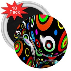 Background Balls Circles 3  Magnets (10 pack)